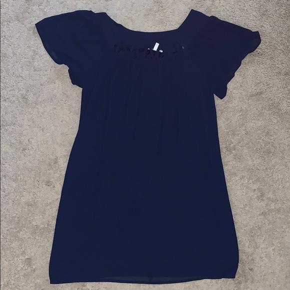 Halo Dresses & Skirts - Halo navy blue A line dress (size M)